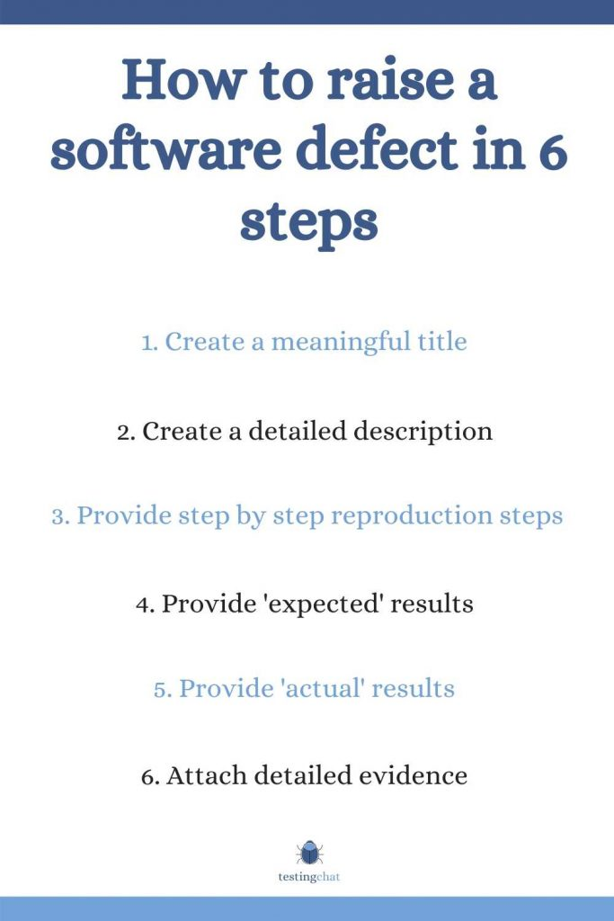 How to raise a software defect in 6 steps